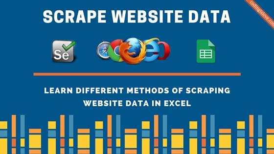 Scrape website using Selenium VBA - Coding is Love
