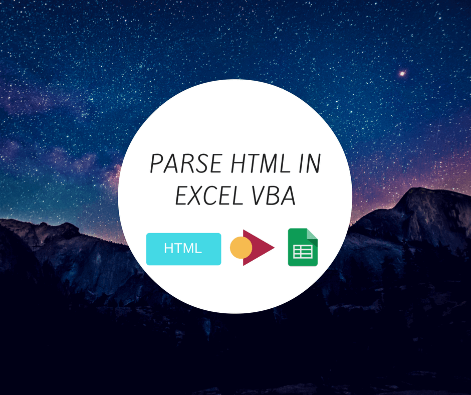 Parse HTML in Excel VBA - Learn by parsing hacker news home page