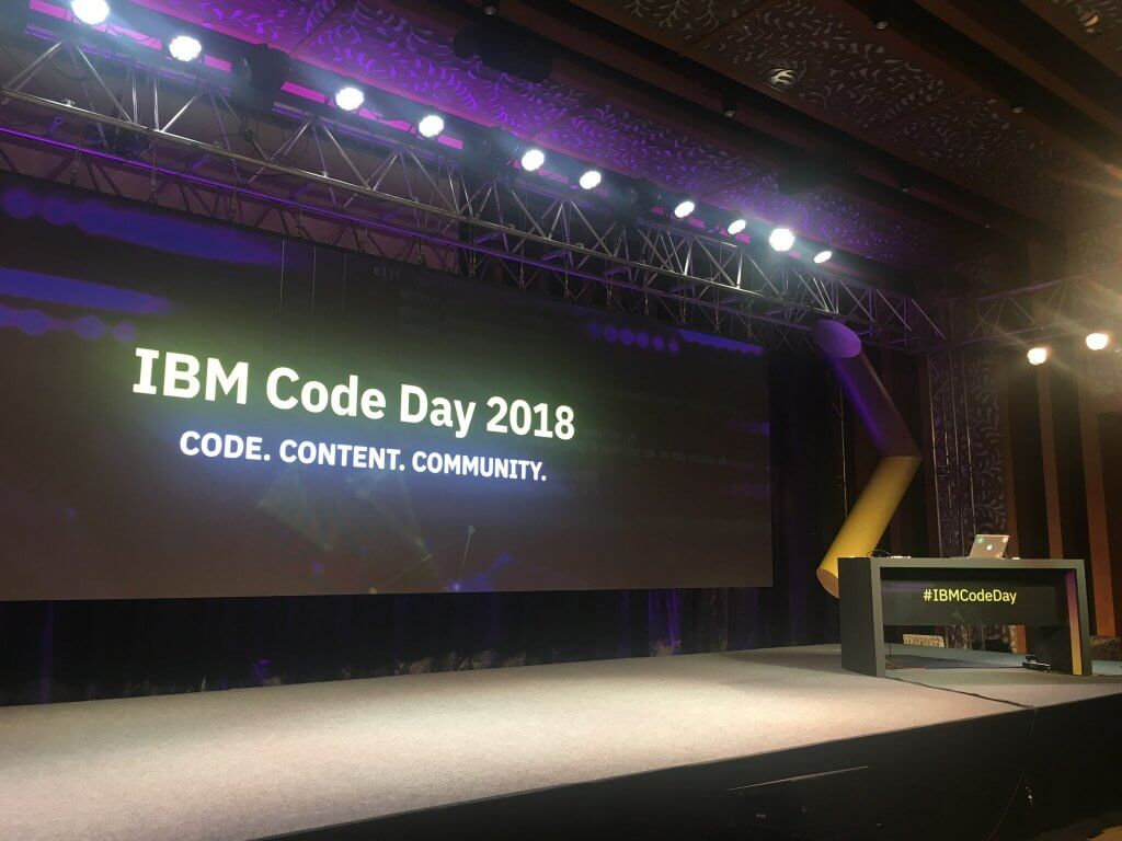 IBM Code day -  stage