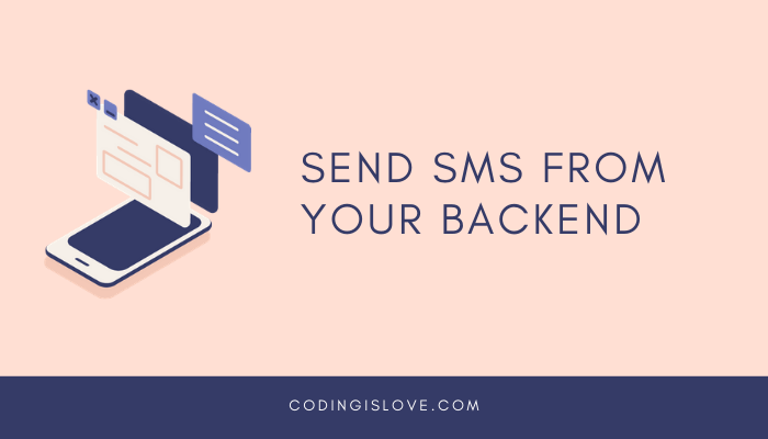 Send sms from backend