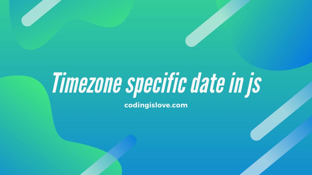 timezone date in javascript