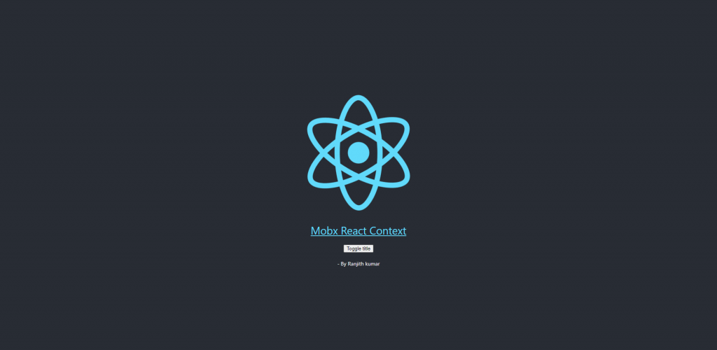 Mobx react context example